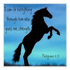 Wall Stickers Bible Verses philippians 4 13 horse poster the bible