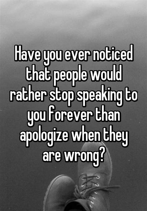 Have you ever noticed that people would rather stop