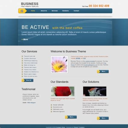 business template free website templates in css html js