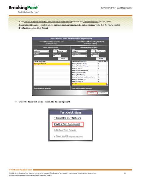 ipv6 test ipv6 test methodology