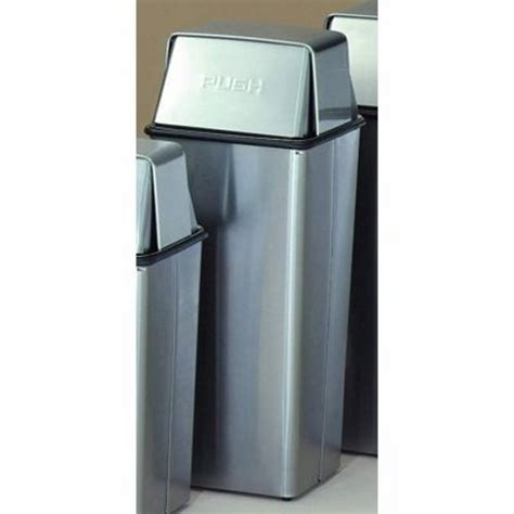 stainless steel bathroom trash can 21 gallon pushtop trash can witt 21htss witt trash cans