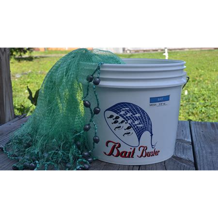 Handmade Cast Nets For Sale - bait buster bait cast nets 3 8 inch sq mesh boaters