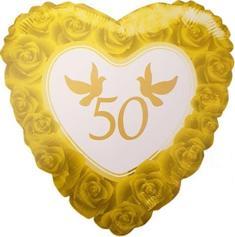 Goldene Hochzeit by Folien Helium Ballon 50 Jahre Goldene Hochzeit 46cm Gold