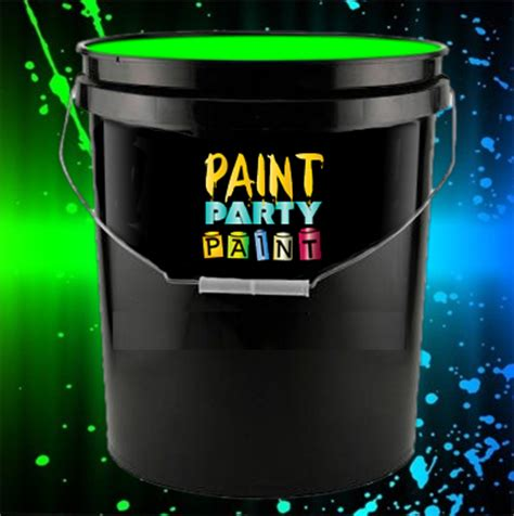 glow in the paint by the gallon 5 gallon washable neon paint green jena consulting