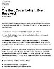 the best cover letter i received the best cover letter i received the writer of this