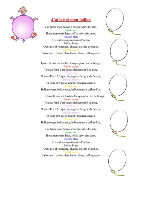 Imprimer Le Texte De La Chanson J Ai Laisse Mon Ballon