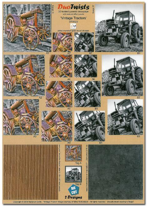 Decoupage Store - die cut 3d duo twists vintage tractors dt8023 163 0 99