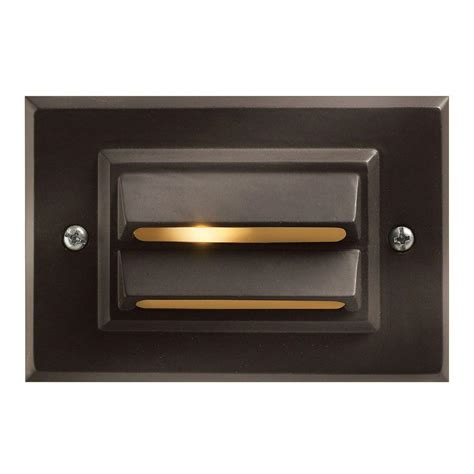 Outdoor Deck Light Hinkley Lighting Low Voltage 12 Watt Bronze Horizontal Outdoor Deck Light 8546bz The Home Depot