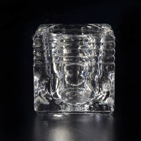 Square Glass Candle Holders by Square Pattern Glass Candle Holders