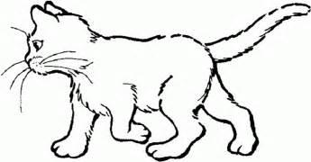dibujo de gato caminando dibujos de gatos para pintar