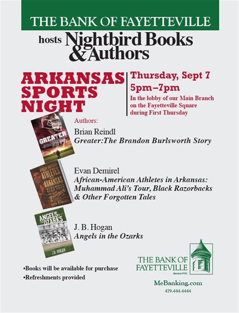 american athletes in arkansas heritage of sports books local authors filmmaker to host signing event sept 7