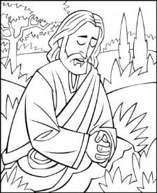 coloring pages of jesus in gethsemane images