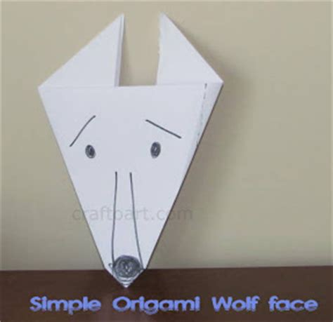 Easy Origami Wolf - all about wolves unit studies and free printables