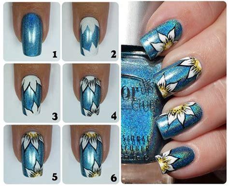 imagenes para pintar uñas paso a paso c 243 mo hacer flores en las u 241 as tutorial u 241 asdecoradas club