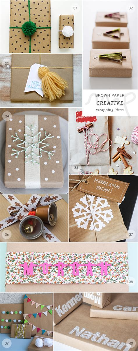 Handmade Wrapping Paper Ideas - downholers