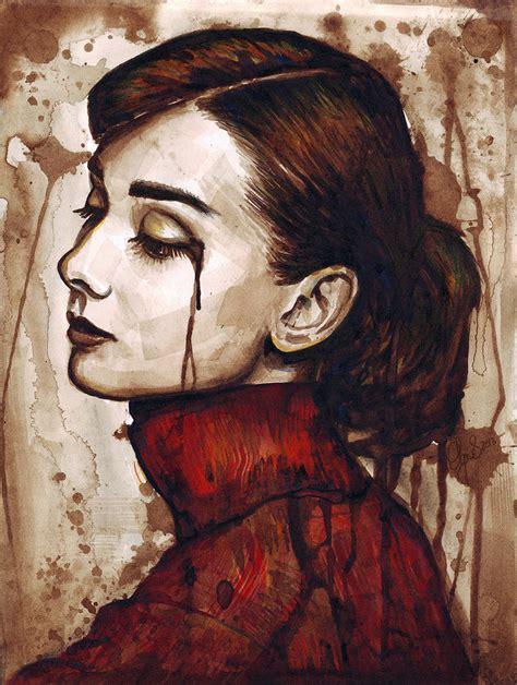 Audrey Hepburn Home Decor audrey hepburn quiet sadness painting by olga shvartsur
