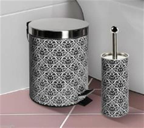 Black And White Damask Bathroom Accessories 1000 Images About Black And White On Damasks Damask Bathroom And Bath Accessories