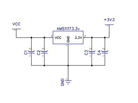 3v power supply circuit diagram ams1117 3 3v power supply module