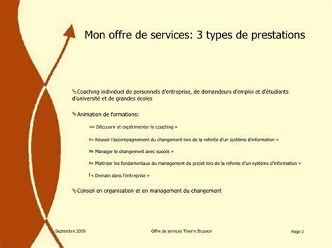 Modeles Lettre Offre De Service Mon Offre De Services