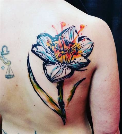 tattoo daffodil designs 45 best daffodil and butterfly tattoos images on