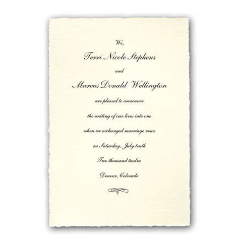 Wedding Announcement Images by Colonial White Medium Deckled Wedding Announcements