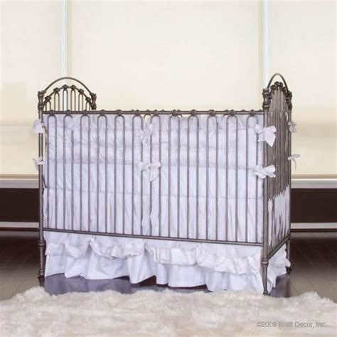 The Crib Features A Stationary Gate The Venetian Cast Silver Baby Crib