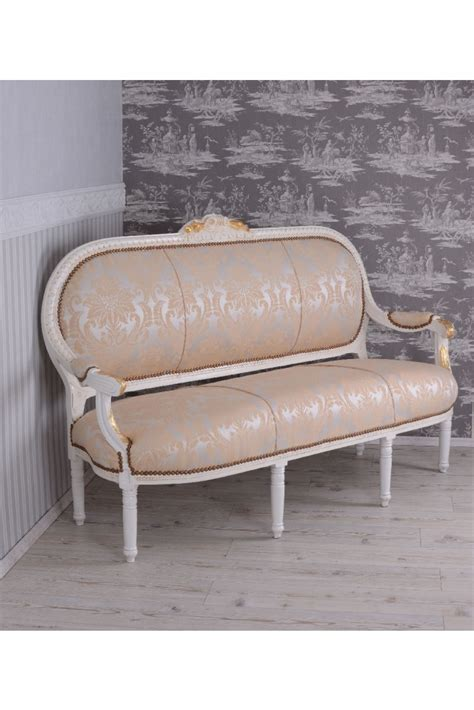 Dogma Spa Products From Antoinette by Barockes Sofa Antoinette Salonsofa Weiss Gold Rokoko