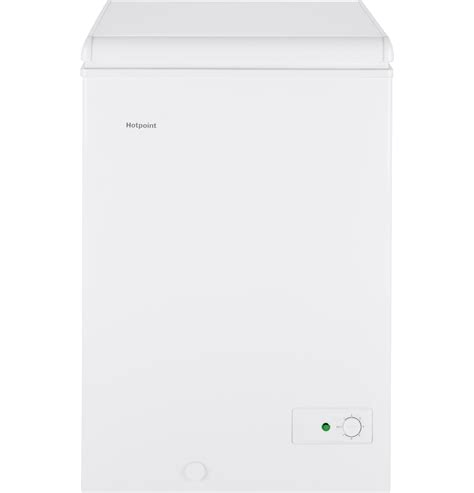 hotpoint hcmsmww  cu ft manual defrost chest freezer