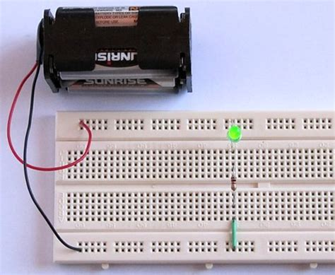 resistors electronics tutorial tutorial 1 building a circuit on breadboard for beginners in electronics