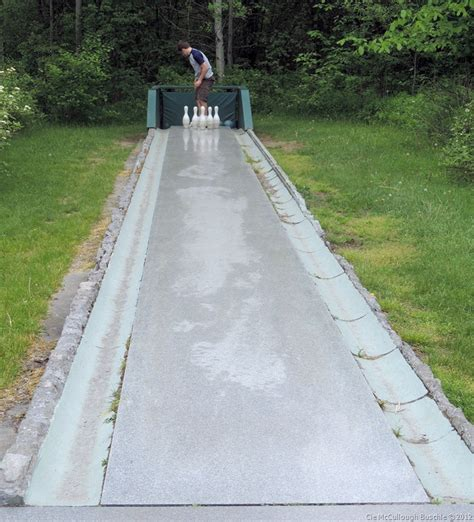 backyard bowling lane have a blast at rock of ages granite quarry vermont