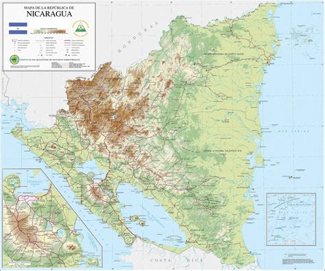 nicaragua on a map nicaragua karte tierwelt
