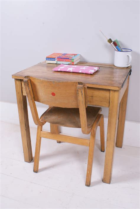 children s vintage school desk with chalkboard lid and