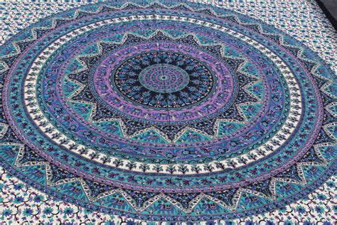 Home Decor Wholesale India purple blue green tapestry blue bohemian tapestry bed throw