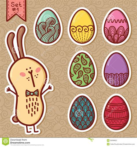 doodle how to make egg doodle easter eggs stock photography image 36398822
