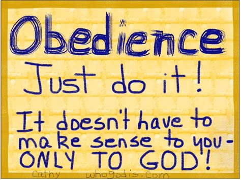 how to your to be obedient can you be obedient to god even when you can t see the end result