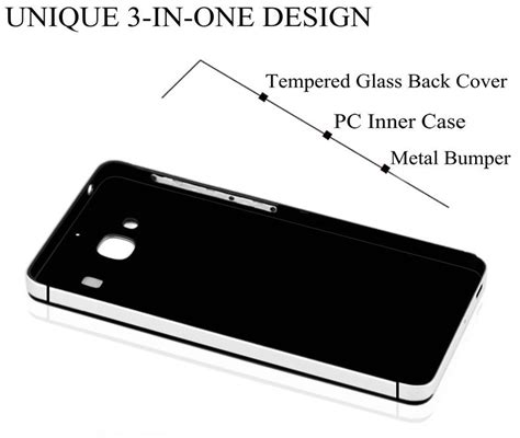 Tempered Glass Color And Cover For All Type tempered glass back cover plus metal frame for xiaomi redmi 2 2a color white lazada
