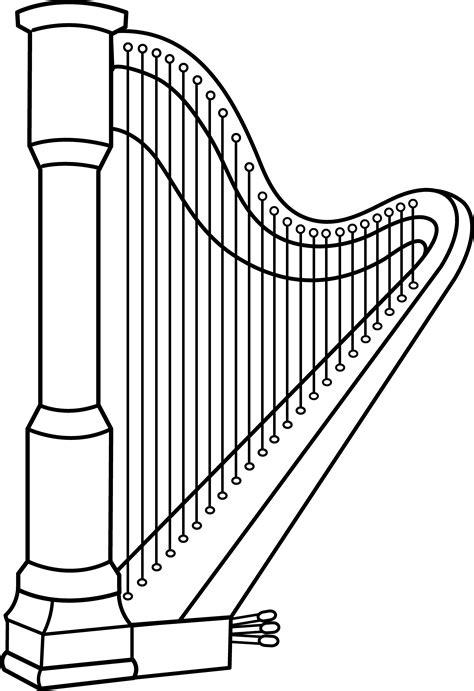 irish instruments coloring page harp clipart jaxstorm realverse us