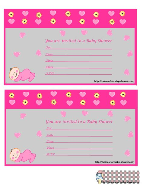 design invitations free printable free printable girl baby shower invitations theruntime com