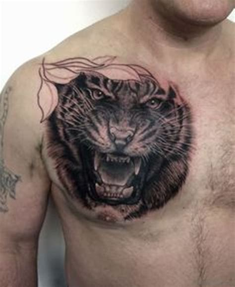 tiger chest tattoo 71 stylish tiger on chest
