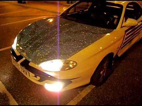 gold glitter car glitter car hyundai coupe se