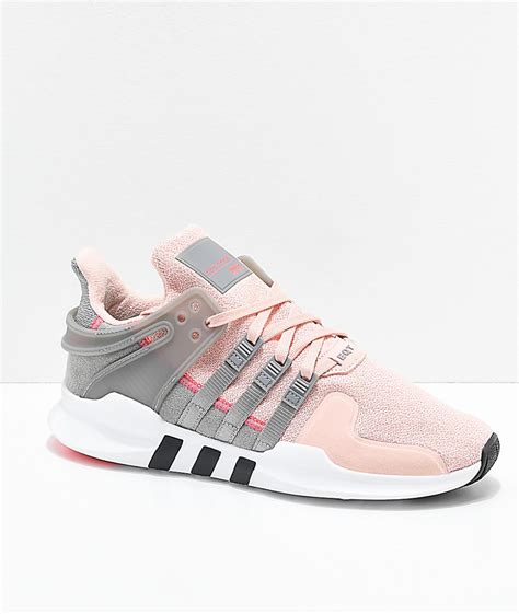 adidas eqt support adv pink grey shoes pink womens
