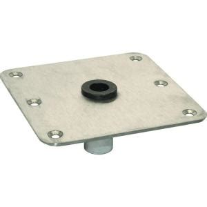 7 in x 7 in stainless steel seat base plate with 3 4 in
