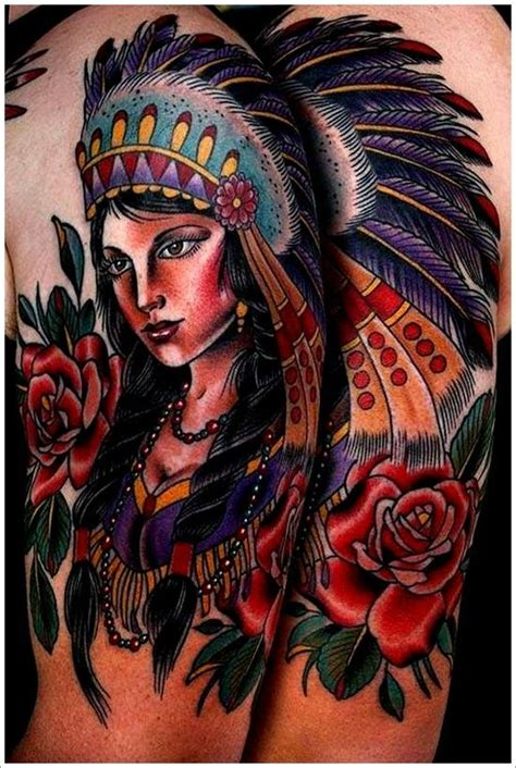 100 native american tattoo sleeve designs pin by