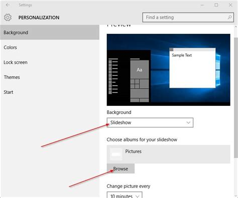 how to change windows photo viewer slideshow interval how to change desktop background in windows 10