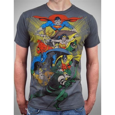mens dc comic heroes t shirt by junk food