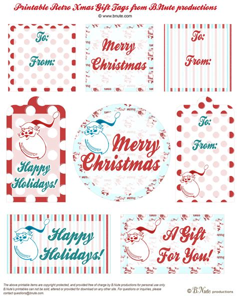 printable round christmas gift tags 7 best images of free printable retro gift tags free