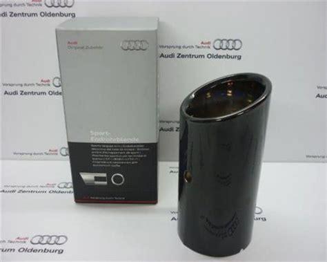 Audi A3 Auspuffblende by Audi A1 A3 Endrohrblende Auspuffblende Schwarz Chrom