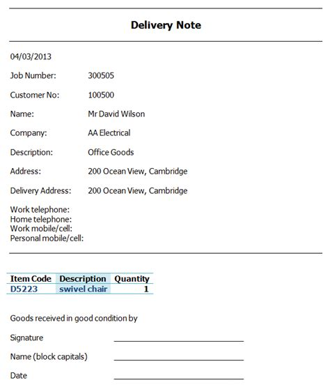 Business Letter Format Delivery Notation Delivery Note Exle Images