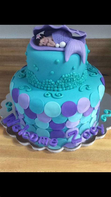 Mermaid Baby Shower Cake by 17 Best Ideas About Mermaid Baby Showers On