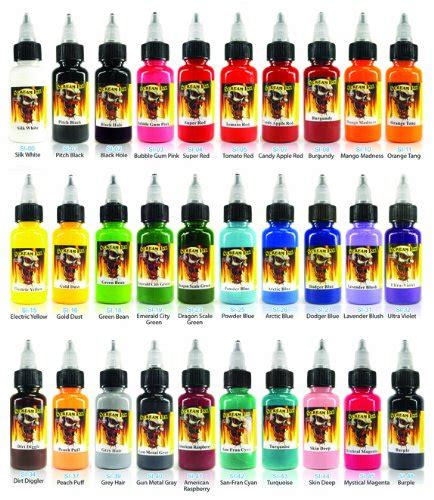 tattoo ink on amazon scream tattoo ink 30 pack set 1 oz bottles tattoo